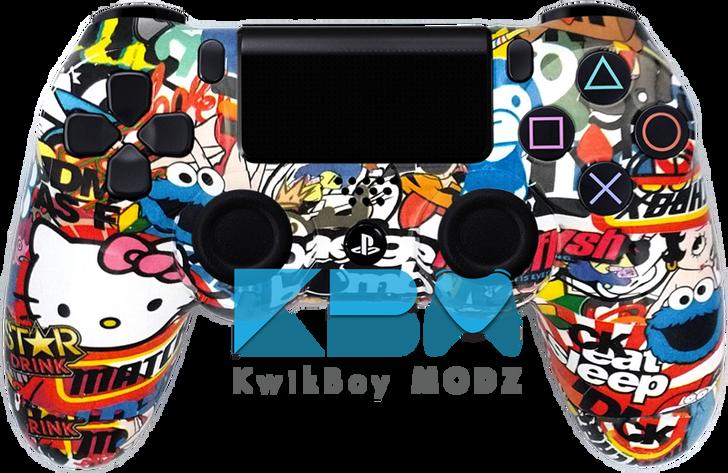 Custom Sticker Bomb V2 PS4 Controller