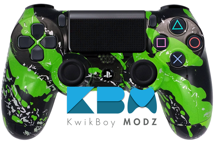 Green Splatter Custom PS4 Controller