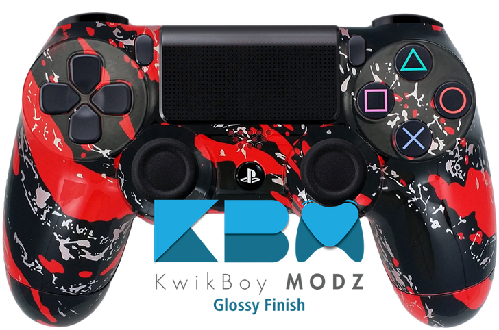 Custom Red Splatter PS4 Controller
