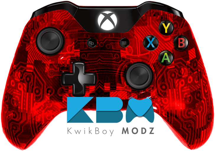 Custom Red Camotech Xbox One Controller