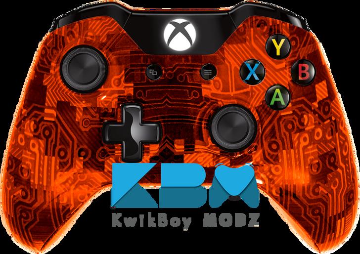 Custom Orange Camotech Xbox One Controller