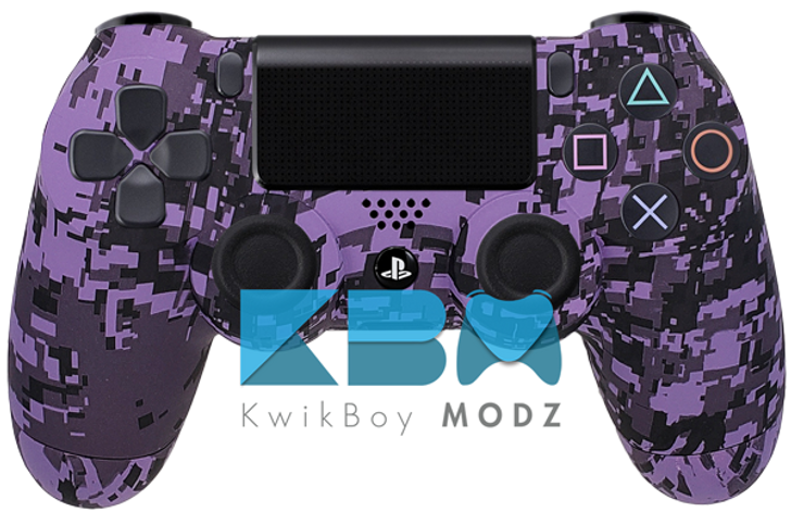 Custom Purple Digital Camo PS4 Controller