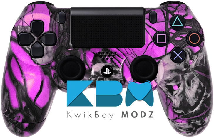 Custom Pink Mr.Creepy Skulls PS4 Controller