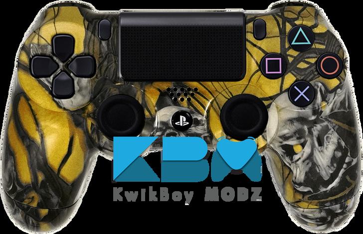 Custom Gold Mr.Creepy Skulls PS4 Controller