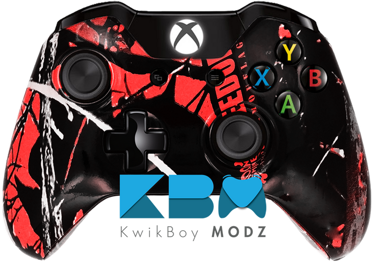 Custom Red Freedom Camo Xbox One Controller