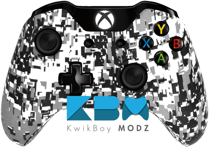 Custom White Digital Camo Xbox One Controller