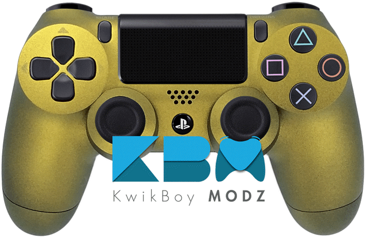 Custom Gold PS4 Controller