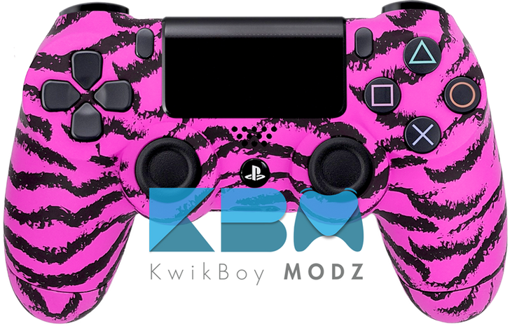 Pink Tiger Custom PS4 Controller