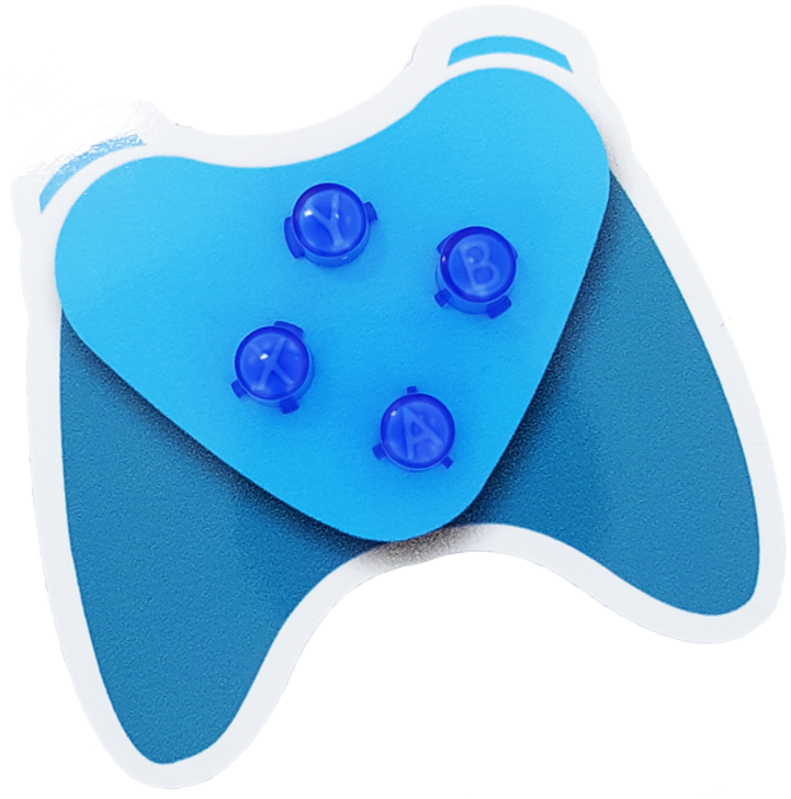 Blue Xbox One ABXY Buttons with Letters