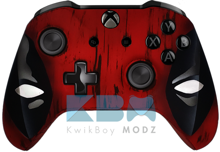 Custom Deadpool Xbox One S Controller