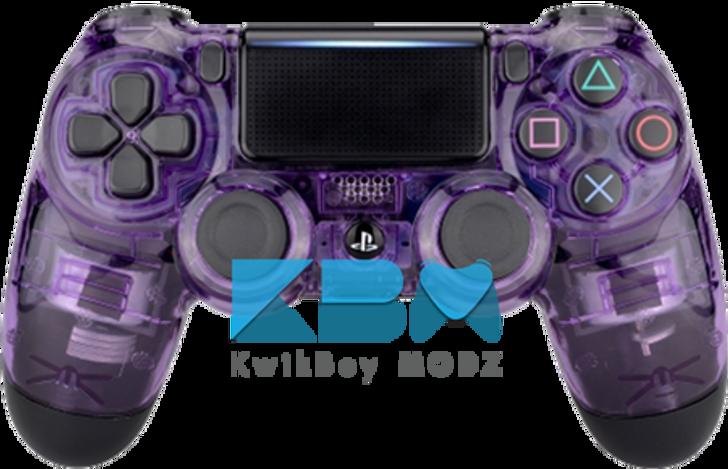 Custom Clear Purple PS4 Controller