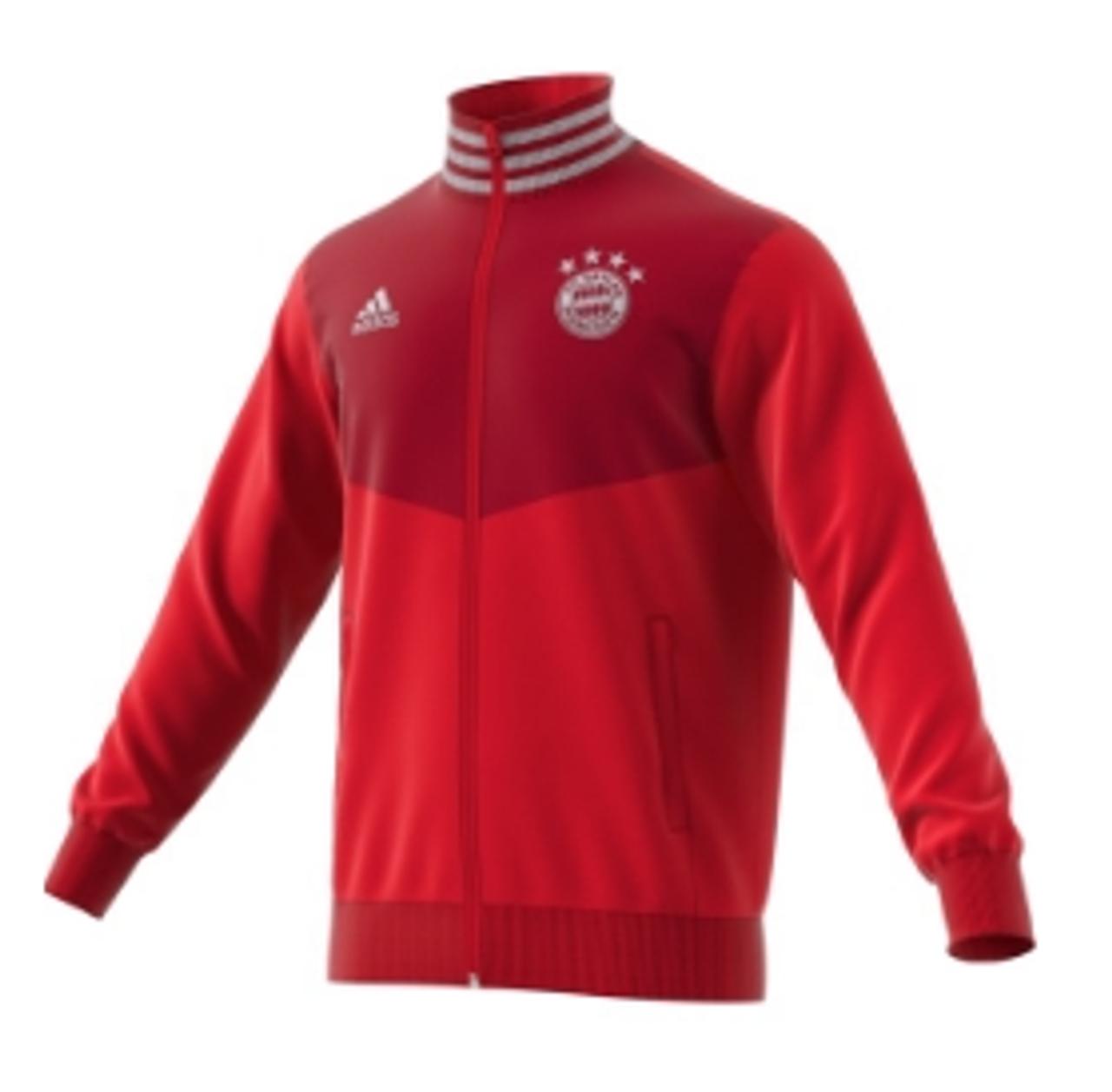 Adidas FC Bayern Munich 3 Stripe Track Top Red (123019)