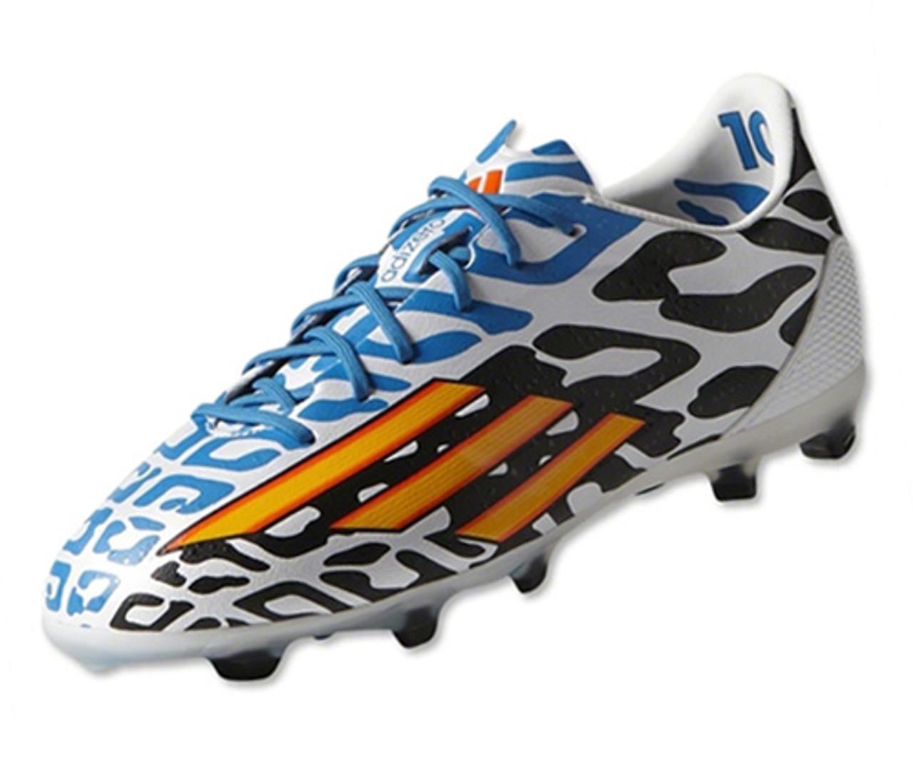 adidas Mens F50 Adizero FG Battle Football Boots White