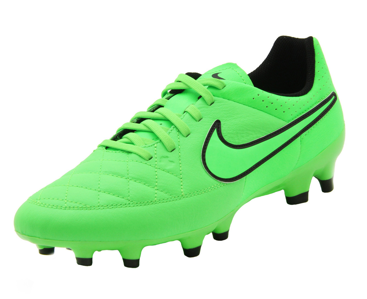 online retailer 46ffb 40d60 Nike Tiempo Genio Leather FG - Green Strike Black (61018) - ohp soccer