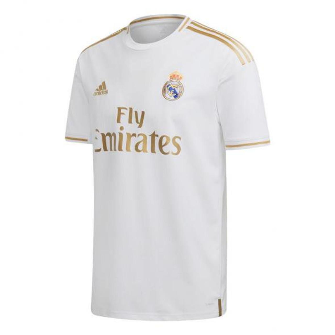 adidas Real Madrid 1920 Home Jersey Toni Kroos WhiteGold SD (123119)