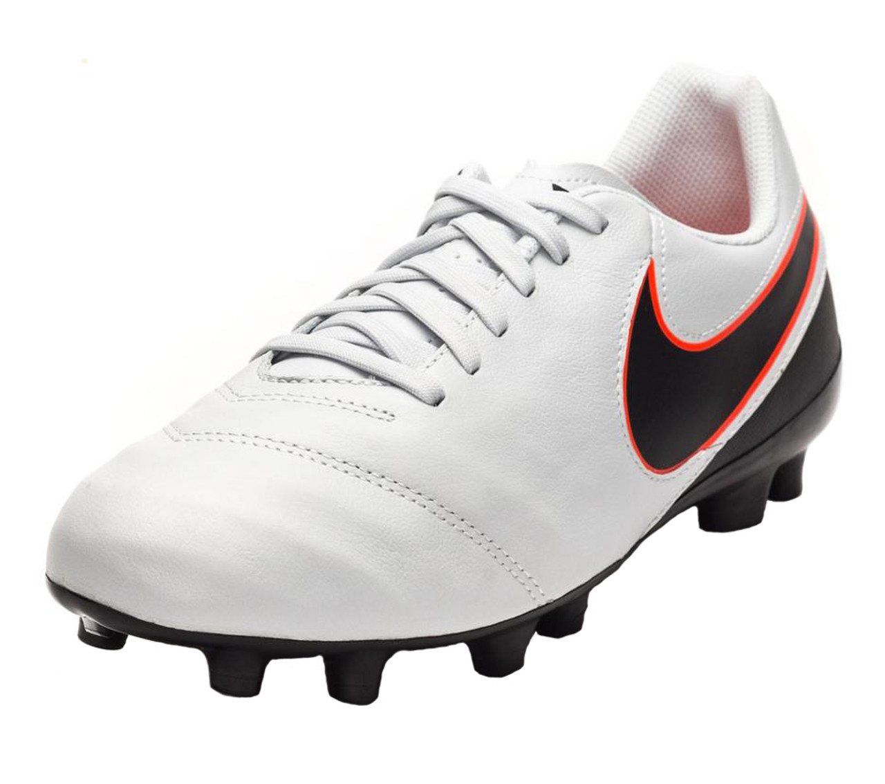 4c6fef141376 Nike Jr Tiempo Legend VI FG - Pure Platinum Black Metallic Silver Hyper  Orange - ohp soccer