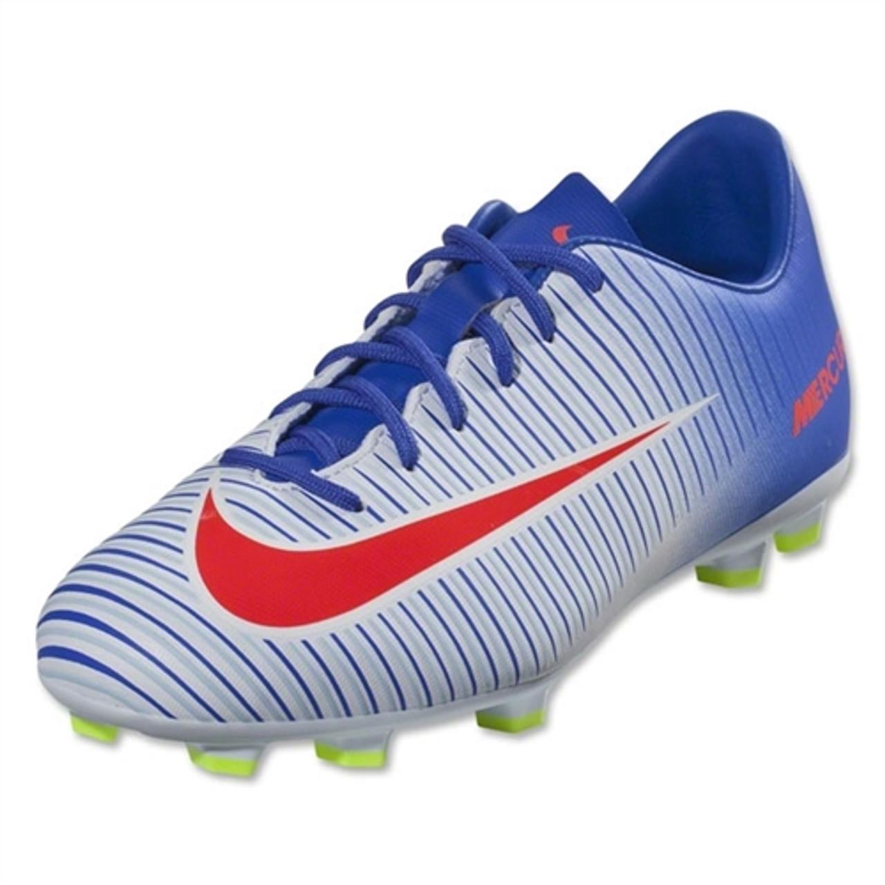 online store 4f0d3 5f0a8 Nike Jr Mercurial Vapor XI FG - White/Bright Crimson/Racer Blue (5818)