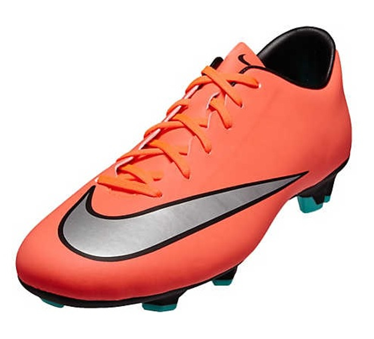 uk availability 02c43 563f0 Nike Mercurial Victory V FG - Bright Mango/Metallic Silver/Hyper Turquoise  (042719)