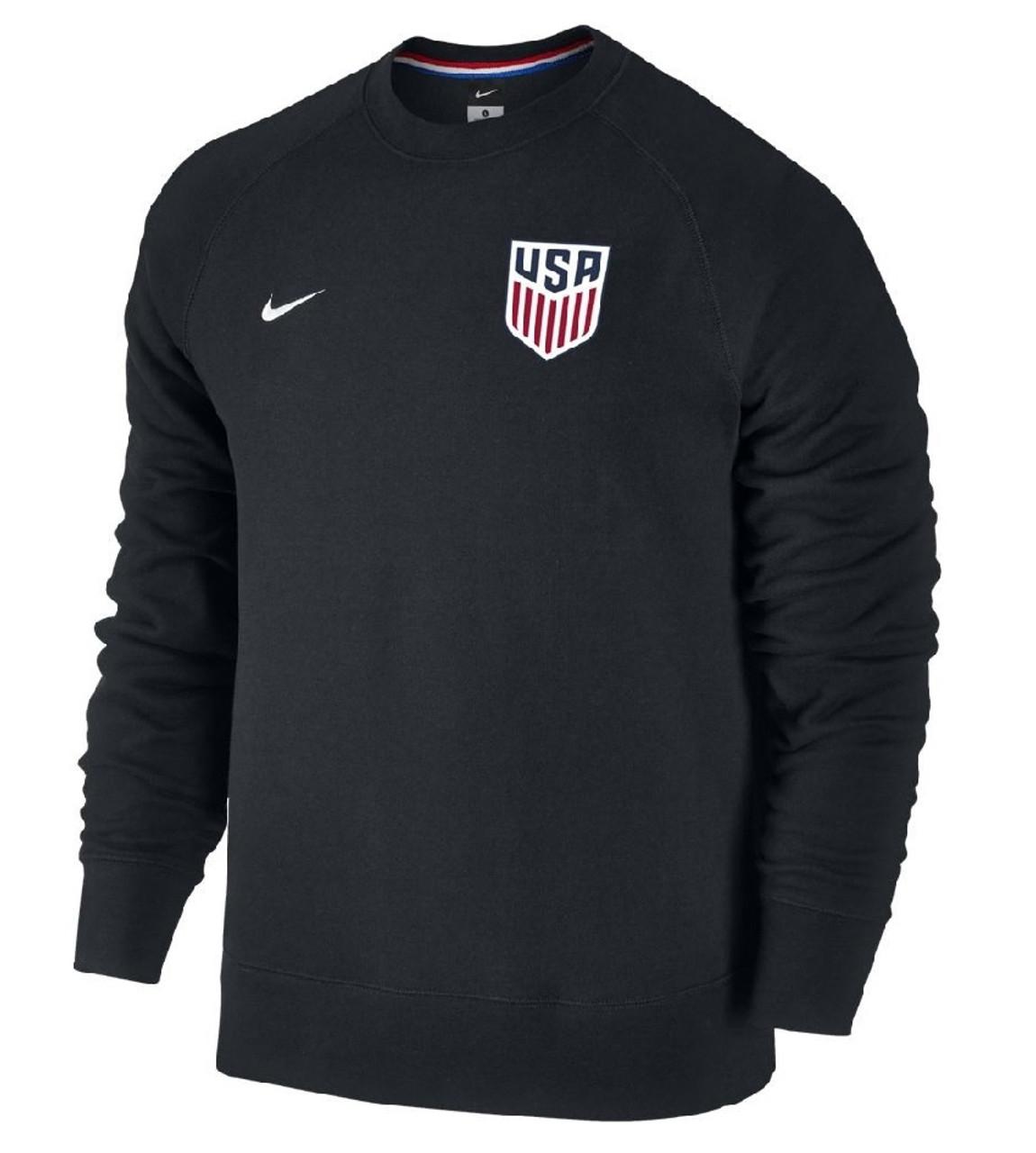 Nike Men's USA AW77 Authentic Crew Black SD (123119)