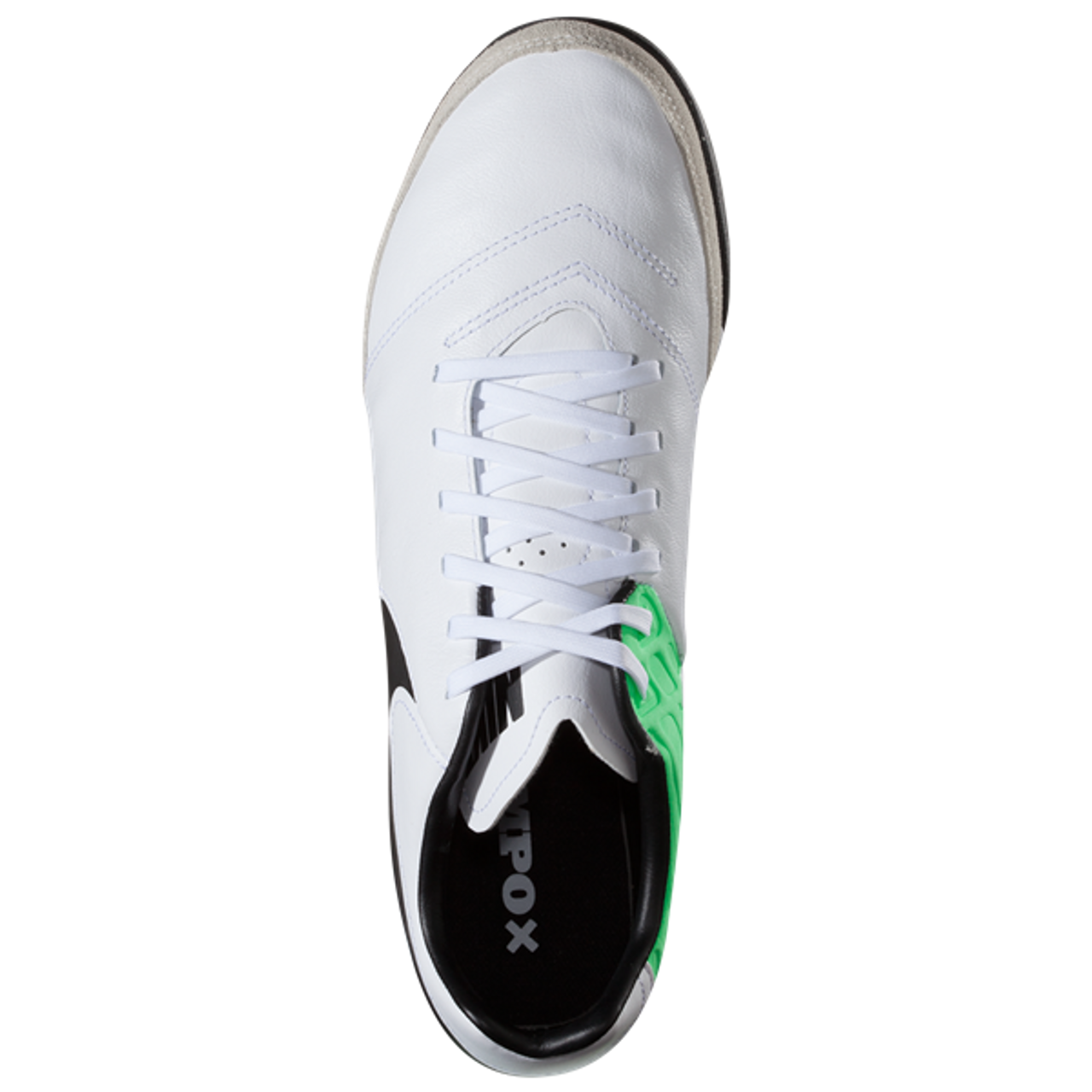 49267ea0b5e Nike TiempoX Genio II Leather TF - White Black Electro Green RC ...