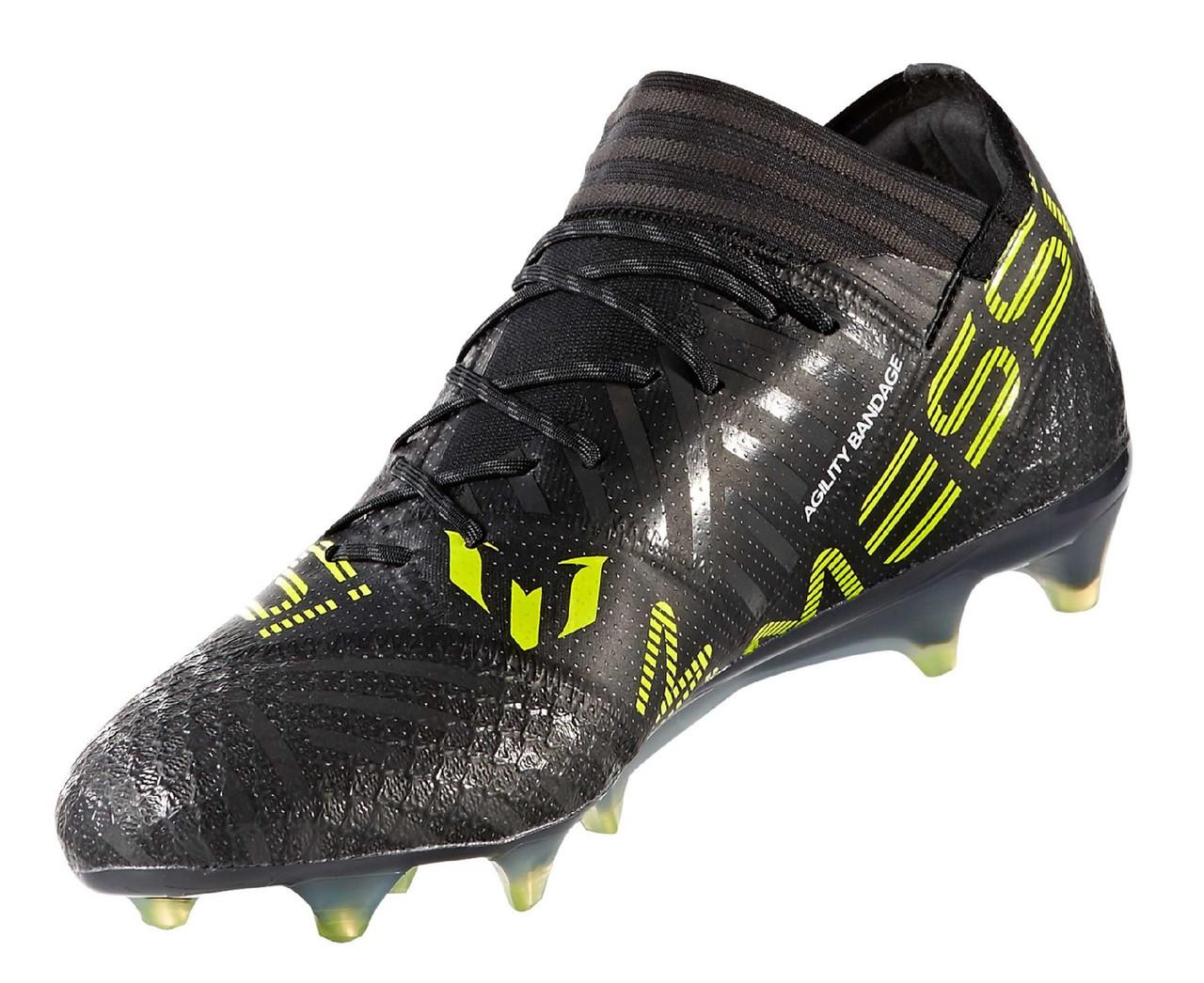 quality design 729a7 e28fe adidas Nemeziz 17.1 FG - Core Black White Solar Yellow (110618) - ohp soccer