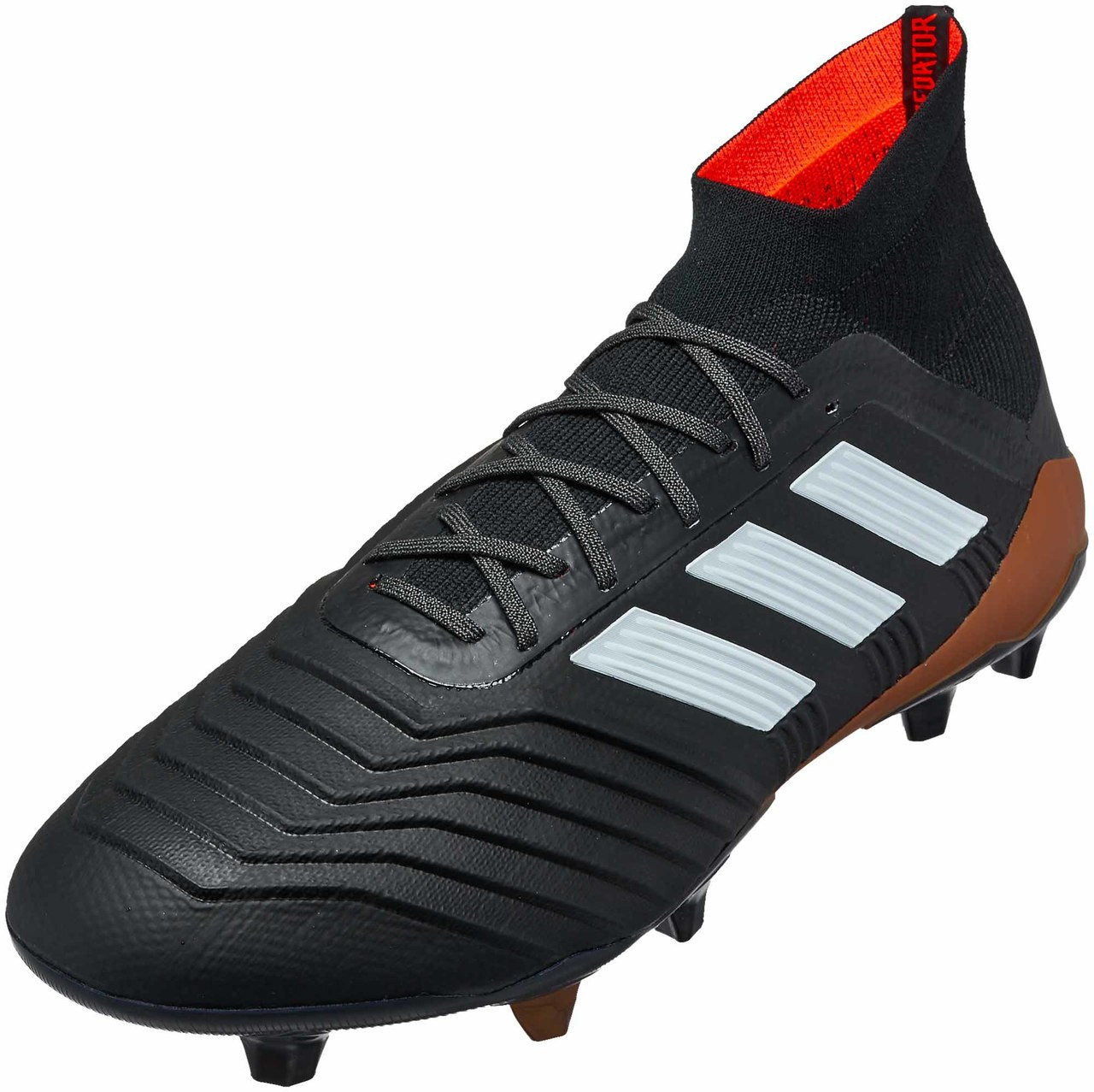 5008493f0025 Adidas Predator 18.1 FG - Black White Solar Red (111617) - ohp soccer