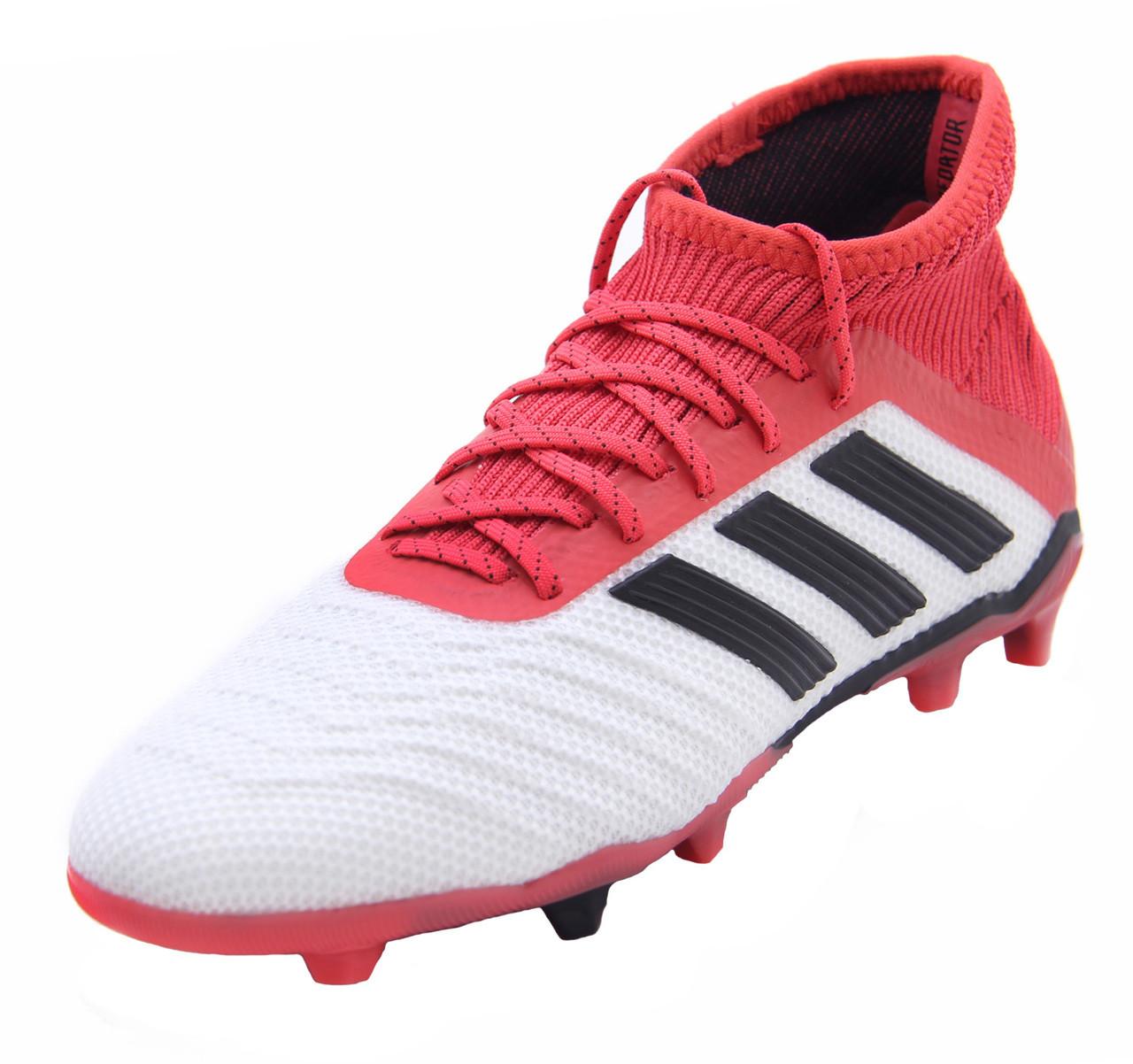 0846b0af6e1a Adidas Predator 18.1 FG J - White/Core Black/Real Coral (21118) - ohp soccer