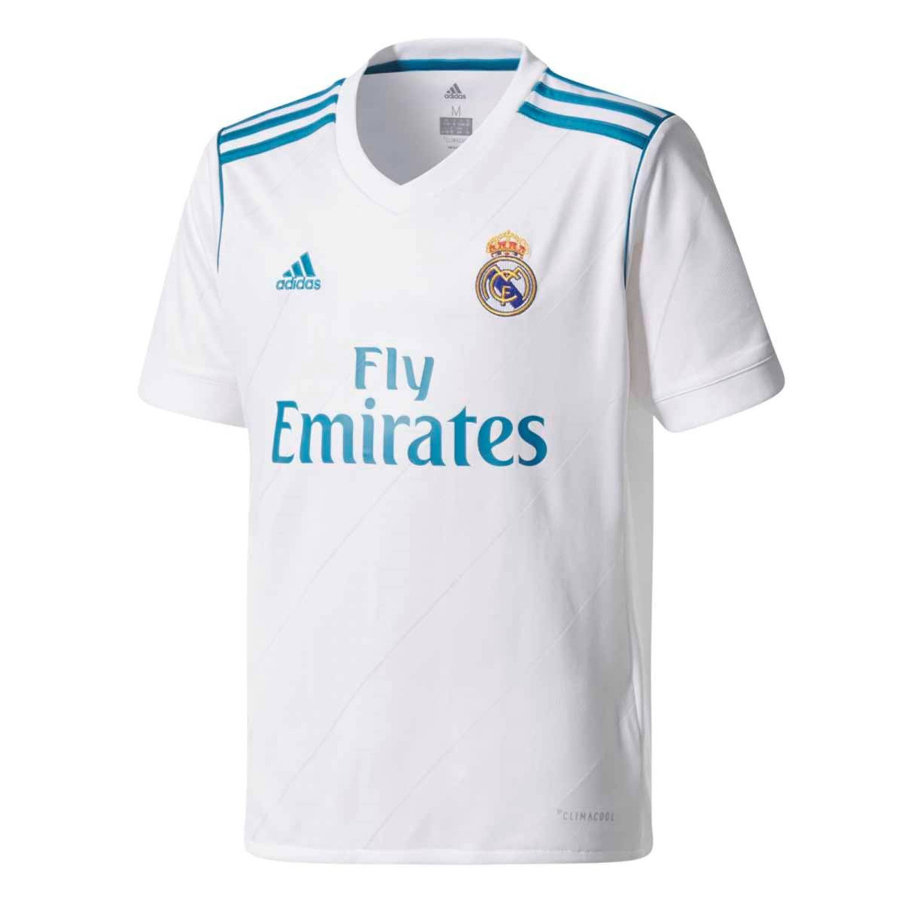 6fdcbd200ac Adidas Youth Real Madrid 2017-2018 Home Jersey - White SD (5518 ...