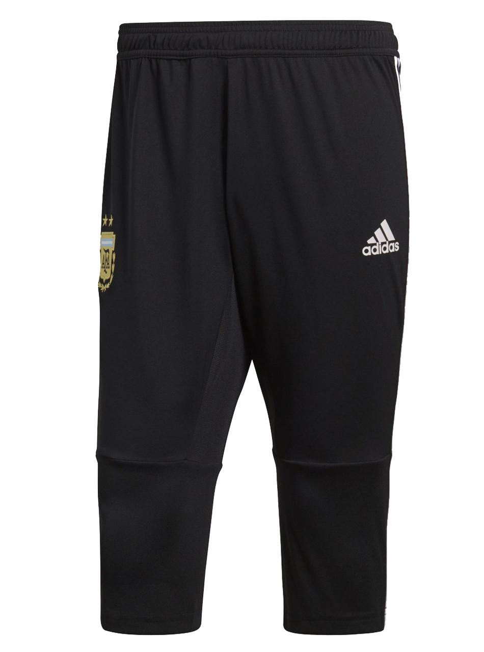 f863e3f65 Adidas Argentina 3 4 Pants 2018 19 - Black Light Blue (52818) - ohp soccer