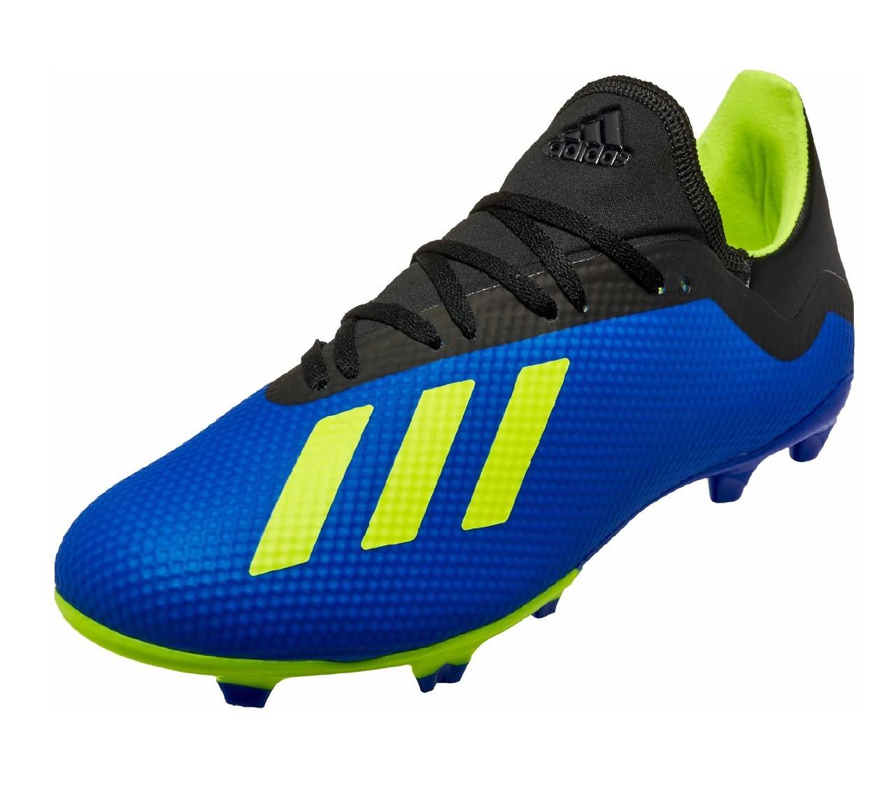 9fca14b2e Adidas X 18.3 FG - Football Blue  Solar Yellow Core Black (042319) - ohp  soccer