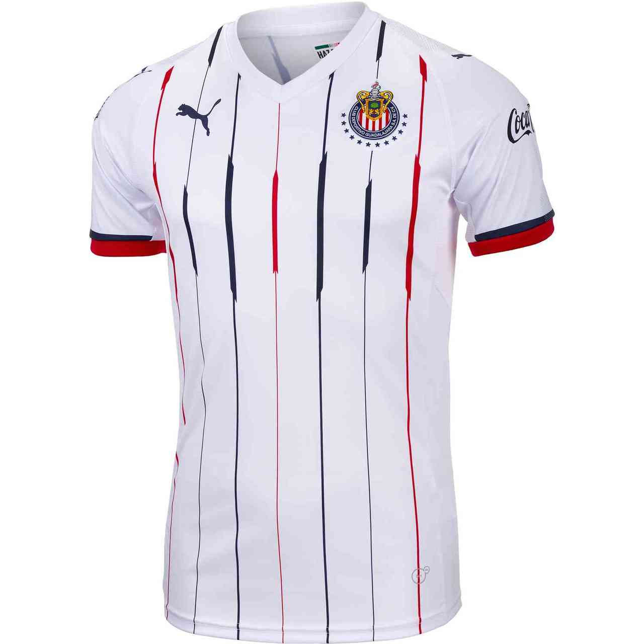 new concept 9947f a624d Puma Chivas 18/19 Replica Away Jersey - White/Red-New Navy RC (032119)