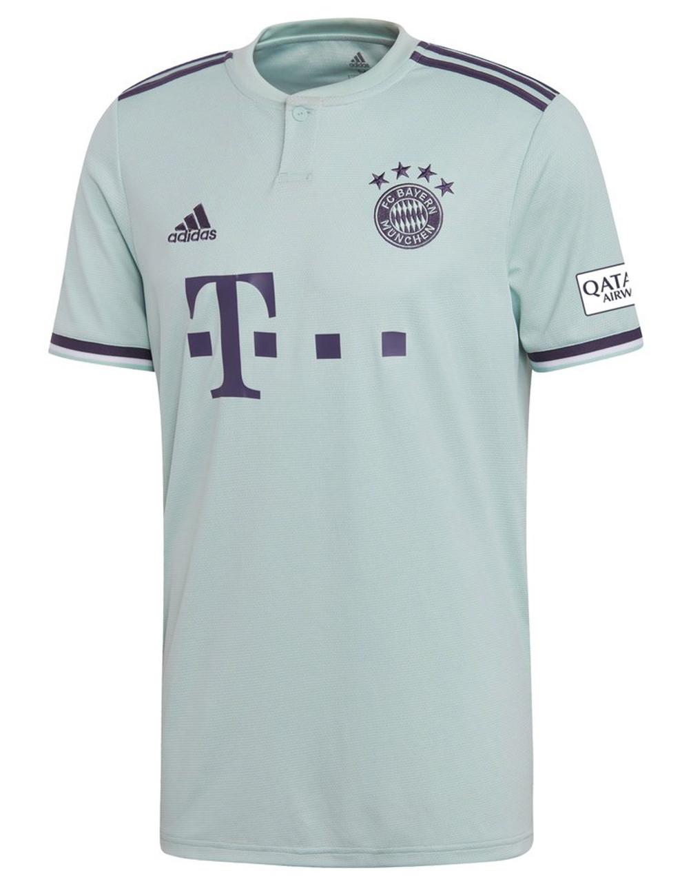 e5c5cf3787b3 Adidas FC Bayern Munchen 18/19 Away Jersey - Green/Blue (031919) - ohp  soccer