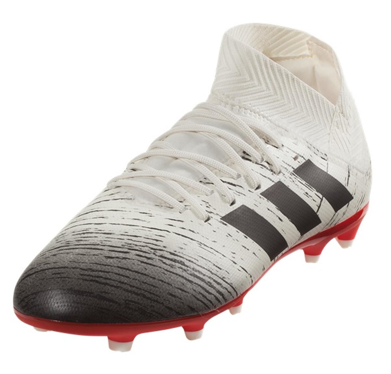 b38bee26df6 Adidas Nemeziz 18.3 FG Jr - Off White Core Black Active Red (050919) - ohp  soccer
