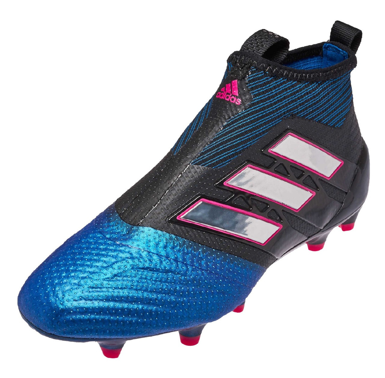 big sale 03b4a 52022 Adidas Ace 17.1 Purecontrol FG Jr - Core Black Cloud White Blue (121518) -  ohp soccer