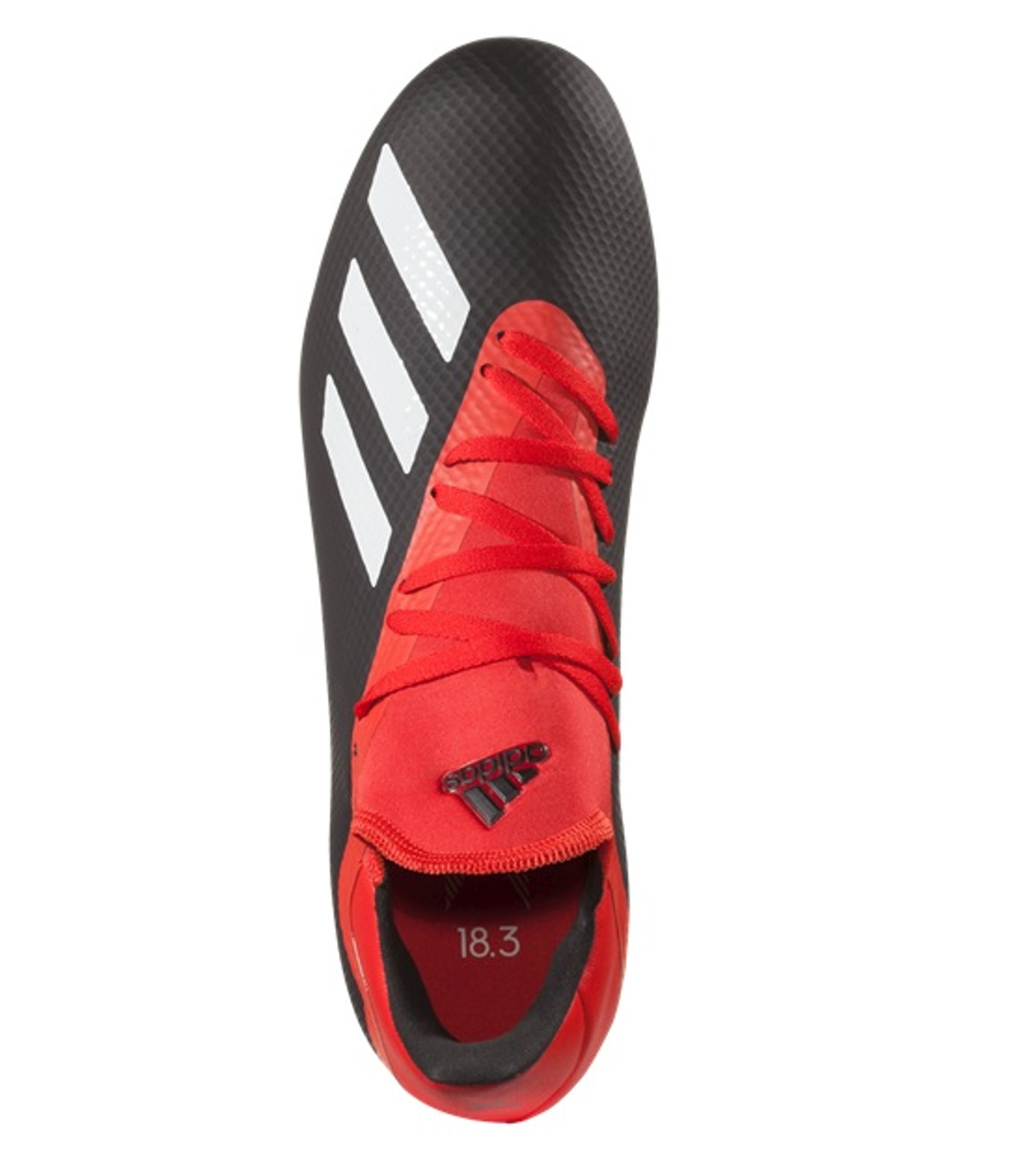 e951f1d460c Adidas X 18.3 FG - Core Black Off White Active Red Grey (030419 ...