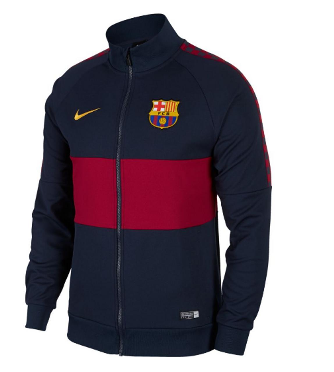 super popular 85583 ddd45 F.C. Barcelona Men's Jacket Obsidian/Noble Red/University Gold (062819)