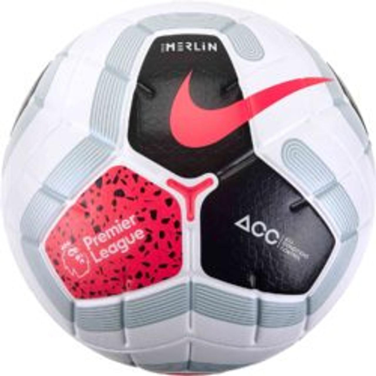 Nike Premier League Merlin Soccer Ball 19 20 Offical Match Ball Pink White Black 121519 Ohp Soccer