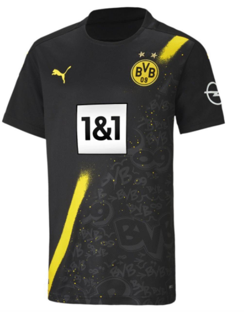 Puma Men S Borussia Dortmund Replica Away Jersey 20 21 Puma Black 121220 Ohp Soccer
