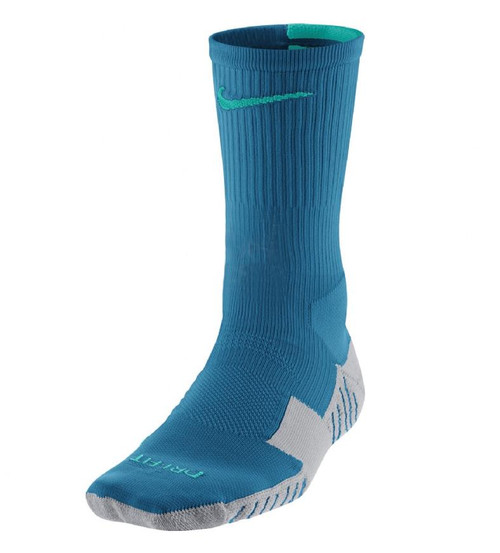 Nike Stadium Soccer Crew Sock - Blue/Green