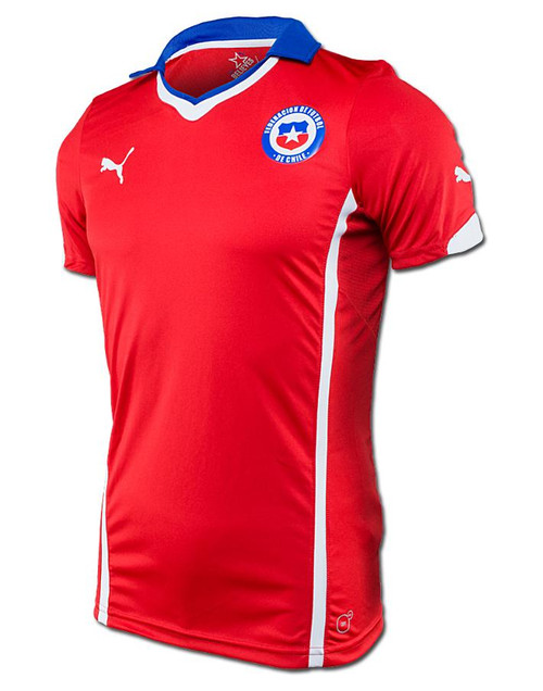 Puma Chile Home Jersey - Red/Royal RC (12218)