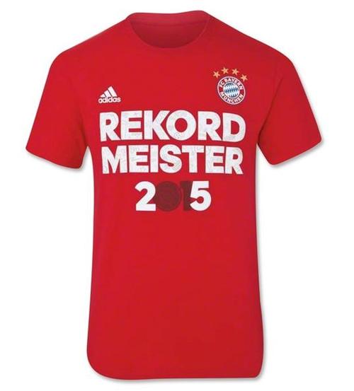 adidas Bayern Munich Champions T-Shirt 14/15 - Red RC
