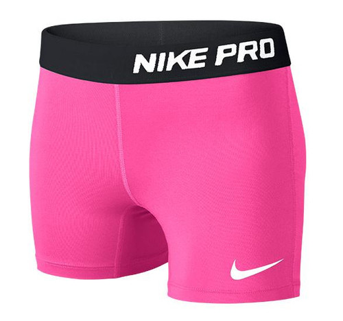 Nike Youth Pro Compression Shorts - Pink/Black