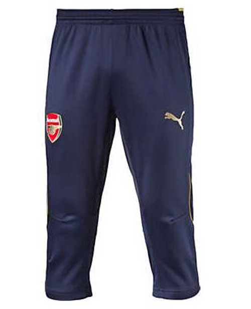 PUMA Arsenal 3/4 Pants w/o Pockets - Black Iris/Victory Gold (41618)