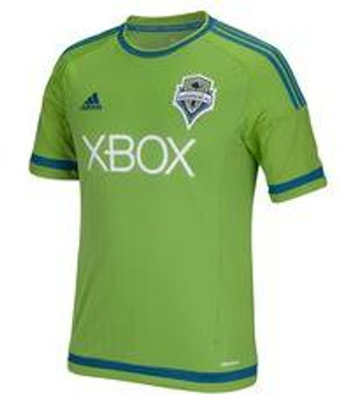 adidas Seattle Sounders FC Replica Home 15/16 Jersey - Green/Blue