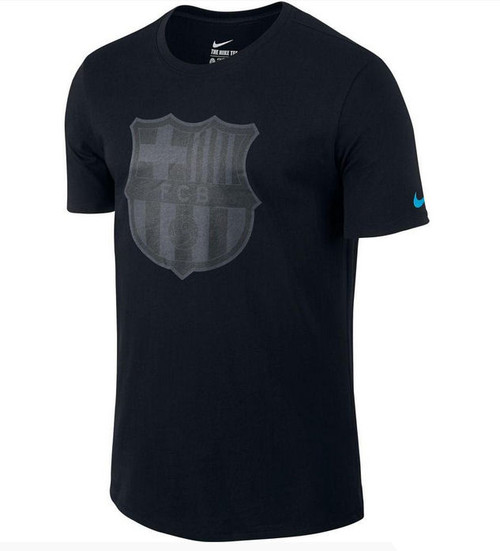 Nike Barcelona Crest T Shirt - Black