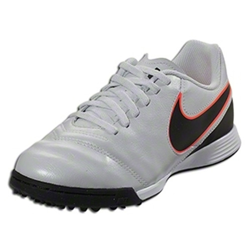 Nike Jr Tiempo Legend VI TF - Pure Platinum/Black/Metallic Silver/Hyper Orange (103018)