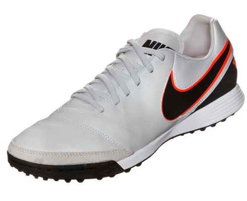 Nike Tiempo Mystic V TF - Pure Platinum/Black/Metallic Silver/Hyper Orange
