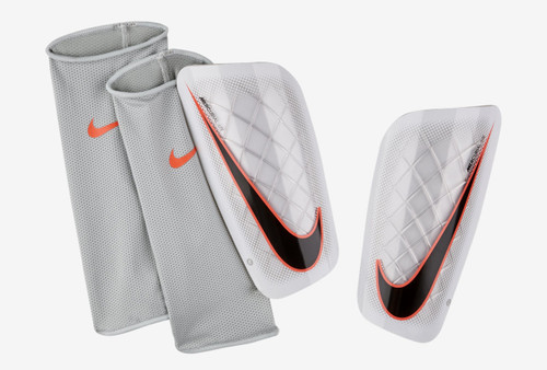 Nike Mercurial Lite Shinguard - White/Black/Total Orange