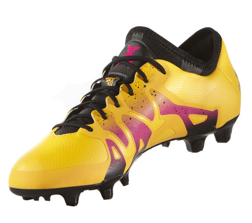 Adidas X 15.1 FG/AG -  Solar Gold/Core Black/Shock Pink RC (41617)