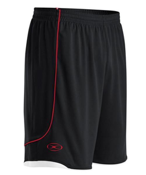 Milan SC Academy Men HM Shorts - Xara Pacifica - Black/Red